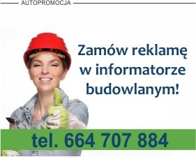 Informacja na temat możliwości reklamy w informatorze budowlanym