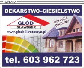 Reklama - Ciesielstwo - Dekarstwo - Pokrycia dachowe | Sławomir Głód